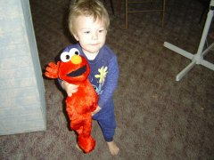 Elmo Zac got for his 2nd Bday