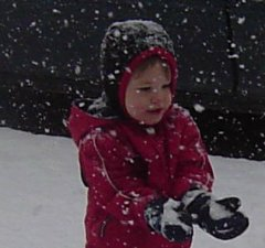 Zac playing in the 1st snowfall of the year